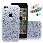 Cocoz® New Releases Romantic Blue Roses Carved Palace Fashion Design Hard Case Cover Skin Protector for Iphone 5c At&t Sprint Verizon Retail Packing(pc) -H007