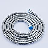 Oulantron Extra Long Stainless Steel Handheld Shower Hose (8 Ft) (96 Inches) (2.45 Meters)