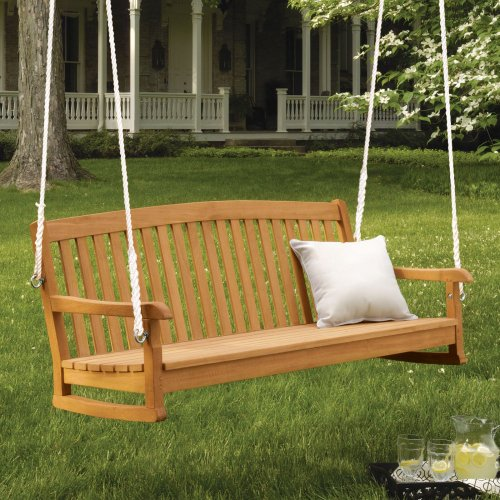 Oxford Garden Oxford Garden 5-Ft. Chadwick Wood Porch Swing, Brown, Wood