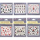 Latest 3D design nail sticker nail decals for Halloween Holiday, 6pcs in one package with various design monster,spider,spider web,pumkin,owl,cat,bear and various cartoon design