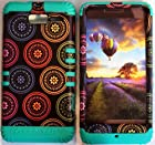 Cellphone Trendz (TM) Hybrid Rocker High Impact Bumper Case Colorful Circular Aztec Tribal / Teal Silicone for Motorola Droid Razr M (XT907