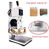 Upgraded Hot Foil Stamping Machine 10x13cm Leather Bronzing Pressure Mark Machine 110V withFull Scale onTheBasePlate for PVC Leather PU Paper Logo Embossing (Tamaño: 110V 60Hz)