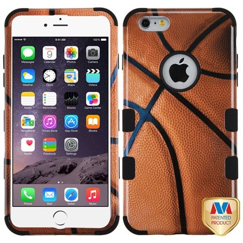 Cell Accessories For Less (Tm) Apple Iphone 6 Plus Basketball-Sports Collection/Black Tuff Hybrid Case Cover + Bundle (Stylus & Micro Cleaning Cloth) - By Thetargetbuys