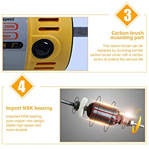 Professional Jewelry Polishing Engraving Machine,350W Portable DIY Rock Polisher Bench Buffer TM-2,Mini Table Saw Kit for Gem Metal Woodworking with Complete Accessories (110V) (Color: 110V, Tamaño: 270mm*190mm*127mm)