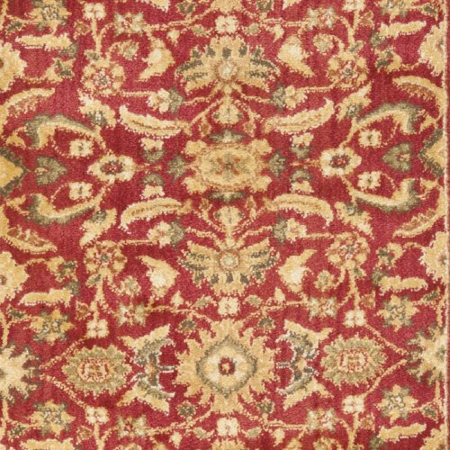 Safavieh heirloom collection hlm1671 4020 red and gold for Red and gold area rugs