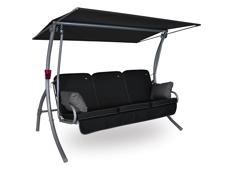 Angerer Primero Style Hollywoodschaukel Style, Schwarz, 3-Sitzer