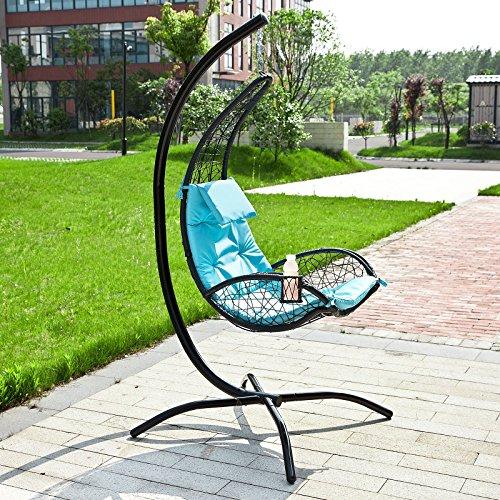 SoBuy® Amaca extra lusso relax da giardino,Lettino prendisole, Poltrona a dondolo, OGS26-GR.IT