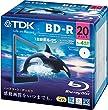 TDK �^��p�u���[���C�f�B�X�N BD-R 25GB 1-4�{�� �z���C�g���C�h�v�����^�u�� 20�� 5mm�X�����P�[�X BRV25PWB20A