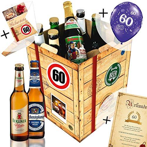 60 geburtstag geschenk f r freund biere aus deutschland bier geschenk box gratis. Black Bedroom Furniture Sets. Home Design Ideas