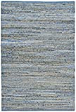 Earth First Jeans Rug, 9-Feet by 12-Feet, Blue