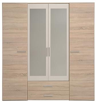 tweed Wardrobe, 182 x 203 x55 cm, Brown