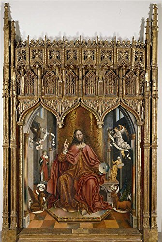 Oil Painting 'Gallego Fernando Christ's Blessing Before 1492 ' Printing On Polyster Canvas , 12 X 18 Inch / 30 X 45 Cm ,the Best Bedroom Gallery Art And Home Decor And Gifts Is This Reproductions Art Decorative Canvas Prints