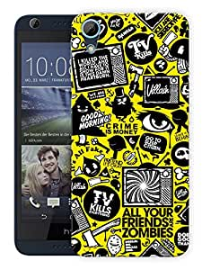 """Humor Gang Movie Production Life - Yellow Printed Designer Mobile Back Cover For """"HTC DESIRE 626"""" (3D, Matte, Premium Quality Snap On Case)"""