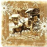 Paper+Design ペーパーナフキン クリスマス トナカイ 茶色