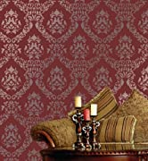 Large Wall Damask Stencil Faux Mural Design #1056 13