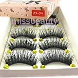 NEW 5 Pairs Hot Long Cross Thick Party False Eyelashes eyelash extension