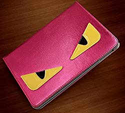 Monster Funky Designer iPad Air 2 Case Cover Leather Flip Stand (Pink)