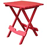 Adams Manufacturing 8500-26-3700 Plastic Quik-Fold Side Table, Cherry Red (Color: Cherry Red, Tamaño: One Size Fits All)