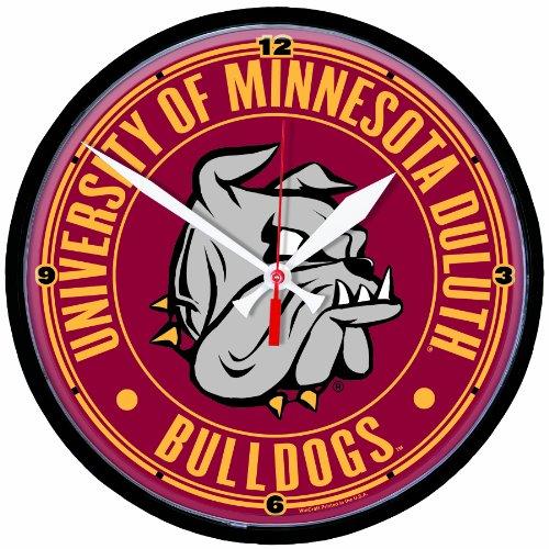 NCAA Minnesota Duluth Bulldogs Round Clock
