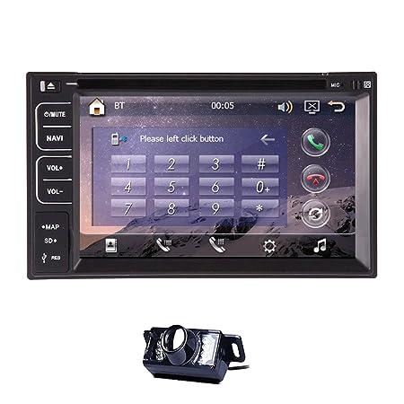 """Jefe Unidad universelle 2 Din 6.2 """"Autoradio En el tablero de coches reproductor de Radio DVD GPS PC FM USB SD dvd Bluetooth AUX HD d'šŠcran tš¢ctil numšŠrique de plena Logo funciš®n populares gratui"""