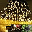 LE LED Solar Lichterkette Solarlichterkette, 17 Meter, Wasserdicht, 100 LEDs, 1,2V, Warmwei�, tragbar, mit Lichtsensor, Au�enlichterkette, Weihnachtsbeleuchtung, Beleuchtung f�r Hochzeit, Party