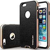 """iPhone 6 Case, Caseology [Bumper Frame] Apple iPhone 6 (4.7"""" inch) Case [Leather Black] Slim Fit Skin Cover [Shock Absorbent] TPU Bumper iPhone 6 Case [Made in Korea] (for Apple iPhone 6 Verizon, AT&T Sprint, T-mobile, Unlocked)"""