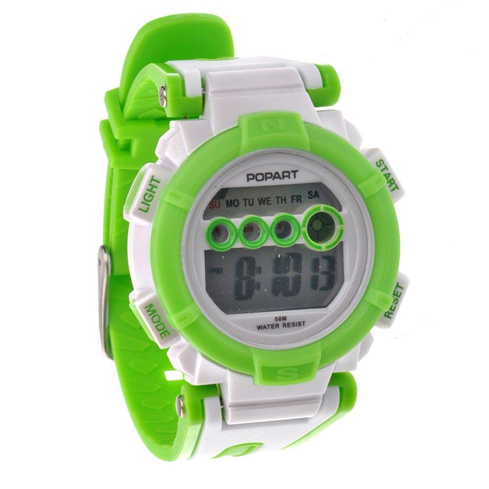 Pixnor POPART POP-810-50 M wasserdicht Damen Digital Sport Armbanduhr mit Datum /Alarm Stoppuhr (grün) online kaufen