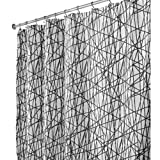 Interdesign Abstract Long Shower Curtain, Black/White, 72 Inches X 84 Inches