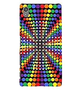 Colourful Dots Pattern 3D Hard Polycarbonate Designer Back Case Cover for Sony Xperia Z5 Premium (5.5 Inches) :: Sony Xperia Z5 Premium Dual