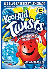 Kool-Aid Unsweetened Island Twists Blue Raspberry Lemonade (72 counts), Each Packet Makes 2 Qts, 0.22 oz