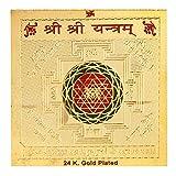 Satyamani Gold Plated Shree Shree Yantram