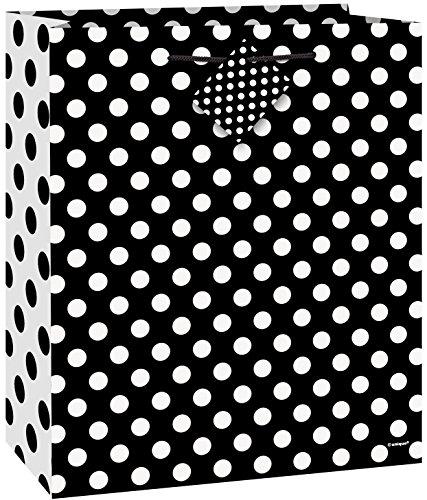 Medium Black Polka Dot Gift Bag