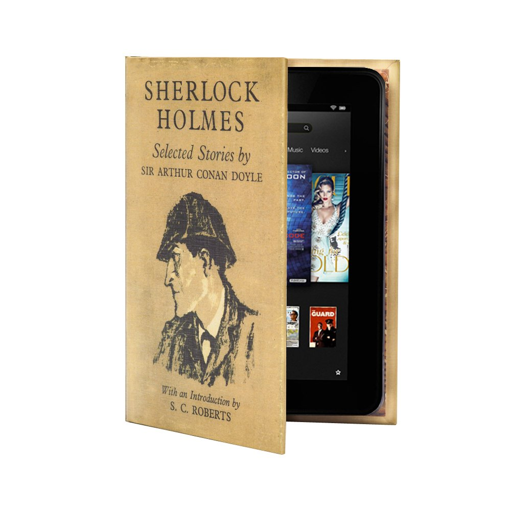 KleverCase Book Cover Case Range for NEW Kindle Fire HD 7  Tablet (only fits 2nd Generation, 2013 version)   Sherlock Holmesreview and more description