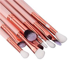 c02ee447d3ab Start 12 pcs/Sets Makeup Brush Set for Eye Shadow Foundation Eyebrow ...