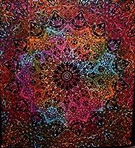 Tie Dye Bohemian Tapestry Elephant Star Mandala Tapestry Tapestry Wall Hanging Boho Tapestry Hippie…