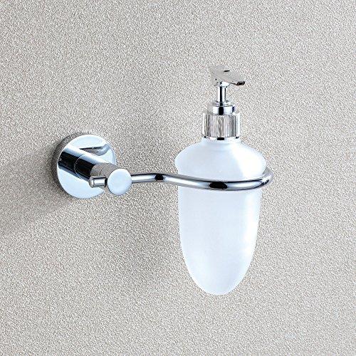 Distributeur de savon en acier inoxydable chromé (137 * 100 * 167)-YU&XIN