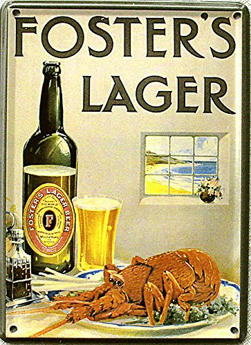 mini-blechschild-fosters-lager-lobster-8-x-11-cm
