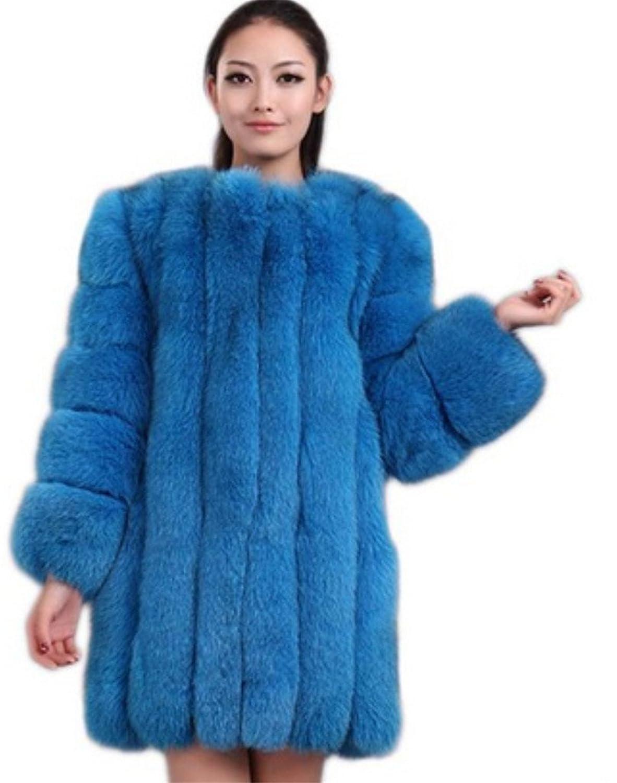 YR Lover Damen Winter Warm Echter Ganze Haut Fuchs Pelz Mantel Jacke jetzt bestellen