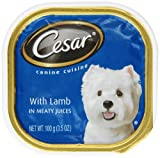 Cesar Canine Cuisine with Lamb in Meaty Juices for Small Dogs, 3.5-Ounce Trays (Pack of 24)