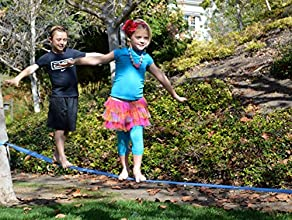 Beginner Slackline by quotGoodtimesquot - 4839 Long and 2quot Wide Extra Soft Nylon Webbing With a D