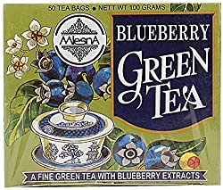 Mlesna Flavoured Green Tea, Blueberry, 100g