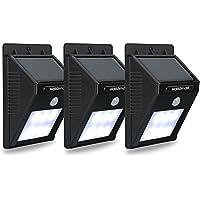 3-Pack Hallomall Outdoor Solar Motion Sensor Detector Wall Lights