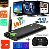 Tukzer® Mini CX919 RK3188 2G/8G Android 4.4.2 TV Stick + 2.4GHz Mini Wireless Air mouse Keyboard Perfect for PC, Pad, Andriod TV Box, Google TV Box, for Xbox360, for PS3, HTPC/IPTV, etc