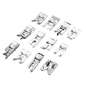 Professional Domestic Sewing Foot Presser Foot Presser Feet Set for Singer, Brother, Janome,Kenmore, Babylock,Elna,Toyota,New Home,Simplicity and Low Shank Sewing Machines (30 PCS) (Color: 30 PCS)