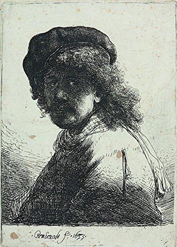 rembrandt-rembrandt-avec-une-echarpe-autour-du-cou-environ-1633-sur-format-a3-papiers-brillants-de-2