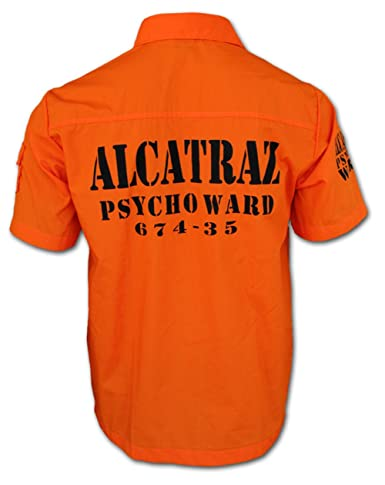 chaquetero alcatraz prison break knast hemd rock punk tattoo. Black Bedroom Furniture Sets. Home Design Ideas