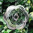 Mobile � vent fleur en acier � suspendre, pour le jardin