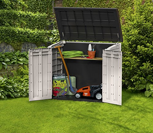 keter store it out midi outdoor resin horizontal storage shed new. Black Bedroom Furniture Sets. Home Design Ideas
