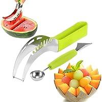 X-Chef Watermelon Slicer Fruit Slicer Corer Server with Fruit Baller and Carving Knife