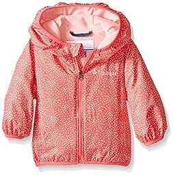 Columbia Baby Mini Pixel Grabber II Wind Infant Jacket, Bright Geranium Print, 3-6 Months